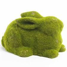 k k interiors green distressed moss laying bunny 7 5 w moss bunny meres 5h x 7 5w x 4 5d by kk interiors walmart