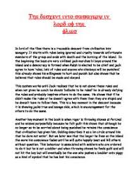 essay about lord of the flies essayonlordoftheflies g the descent into savagery in lord of the flies gcse english page