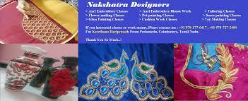 Job Description Embroidery Designer Aari Embroidery Online Classes Nakshatra Designers