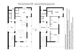 plan de maison moderne 125 plan niveaux 1 100e