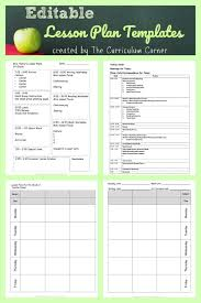 Lesson Plans Template Free Lesson Plan Templates The Curriculum Corner 123