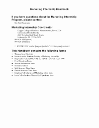 Sample Resume Marketing Internship Objectives Inspirationa Sample