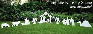 nativity scene by outdoor nativity sets