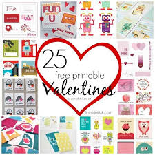 25 Free Printable Valentines For Your Kids To Hand Out