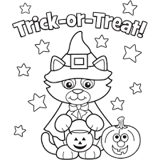 halloween costumes coloring pages kitty costume free n fun halloween from oriental trading