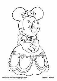 Christmas Mickey Mouse Coloring Pages To Print Simple Free Mickey