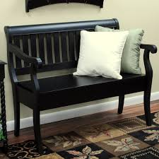 Black Hall Bench  Entrance Hall Furniture  Bed Benches Black Hall Bench