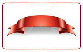 Red Ribbon Design Red Ribbon Satin Bow Blank Banner Design Label Scroll Blank