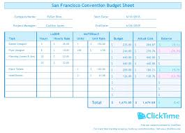 excel business budget template business budget template plan project budgets with excel clicktime
