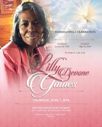 Obituary design of Ms. Lillie Gaines by Rendezvous Visual ...