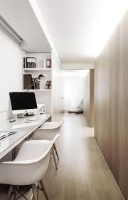long desks for home office. Diffuses Throughout The Hallway Where We Find This Home Office. Shelves Built Into Sides Of Office Provide Storage, And Desk Is Long Enough Desks For R