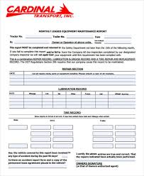 Maintenance Report Template 49 Monthly Report Format Templates Word Pdf Google Docs