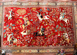 Persian rug hunting ground design