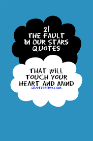 Quotes From The Fault In Our Stars Beauteous 48 The Fault In Our Stars Quotes That Will Touch QuotesBerry