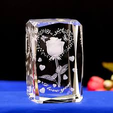 details about new crystal engraved gifts 3d rose flower colorful led table ls lovely gifts