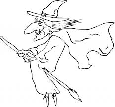 Small Picture Printable Witch Coloring Pages Me Flying Page adult