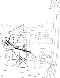 Small Picture Robin Hood Coloring Page Handipoints