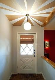 ceiling paint ideas to paint the ceiling creative using metallic paint in a sunburst pattern as