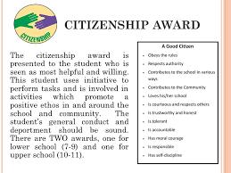 Student Citizenship Award Magdalene Project Org