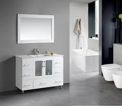modern white bathroom. Design Element Stanton 48â\u20ac White Bathroom Vanity Set Modern