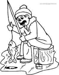 Small Picture Ice Fishing color page Coloring pages for kids