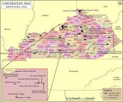 List Of Universities In Kentucky Map Of Kentucky