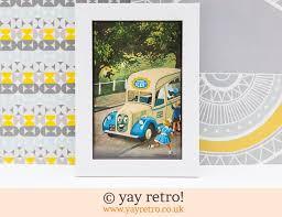 vintage ice cream van 1956 framed picture 9 75