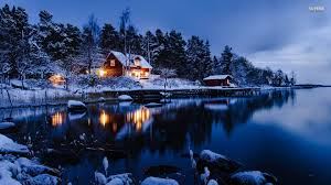 Winter Cabin Wallpapers Group (75+)
