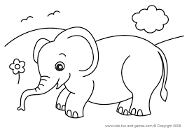 Small Picture Cartoon Elephant Coloring Pages Coloring Coloring Pages