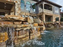 garden fountain rock wall water feature homemade house natural old classic stunning rock wall