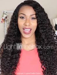 virgin human hair lace front wig brazilian hair curly wig layered haircut 130 hair density with baby hair for black women black women s short um length