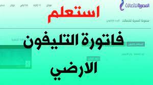 رابط استعلام فاتورة التليفون الأرضي أبريل 2021 موقع المصرية للاتصالات  بالرقم والاسم - إقرأ نيوز