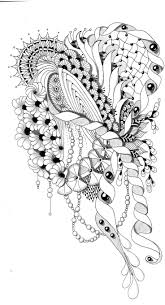 Flower Abstract Doodle Zentangle Coloring Pages