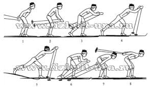 Лыжные шаги виды Техника классических лыжных ходов реферат Вторым вариантом одновременного одношажного хода является скоростной Цикл движения начинается с отталкивания ногой и одновременного выноса палок вперед