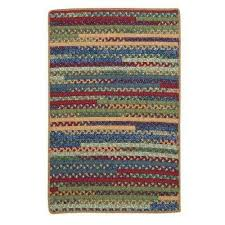 hearth rectangular sea glass 5 ft x 7 ft braided area rug