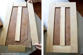 turning plain old kitchen cabinet doors into updated shaker style doors great inexpensive update