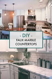 White Countertop Paint 36 Best Diy Marble Images On Pinterest Countertop Paint Kitchen