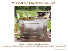 personalized stainless steel tub realtor housewarming thank you gift