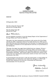 Follow Up Letter Template Beauteous DFAT Annual Report 4848 Letter Of Transmittal