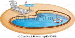 A swimming pool Illustration of a swimming pool on a white background