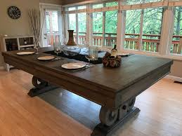 Pool table dining top Ideas Dining Top Pool Table Rustic Farmhouse Pinterest Dining Top Pool Table Rustic Farmhouse Mine Dining Farmhouse