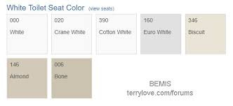 Bemis Toilet Seat Color Chart Bemis Cotton White Seat For Toto Vespin Ii Terry Love