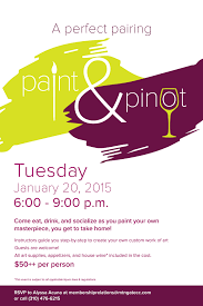 paint pinot flyer poster template art wine and fun what more