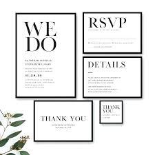 Image 0 Minimalist Wedding Invitation Templates Modern Black