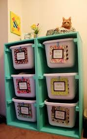 Painted Hopper bin storage for toys in kids room - home decor, kids  furniture