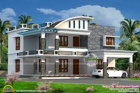Curved Roof Mix House Kerala Home Design Floor Architecture