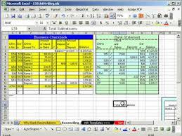 Bank Reconciliation Excel Format Excel Busn Math 37 Bank Reconciliation