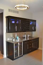 wet bar lighting. Round Ceiling Lighting Design Combined With Black Wood Wet Bar Cabinets Sink Plus Flooring T