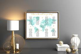 Travel Seating Chart Seating Chart Poster Seating Chart Wedding Rush Order Travel Themed Seating Chart Poster Wedding Table Chart Printable