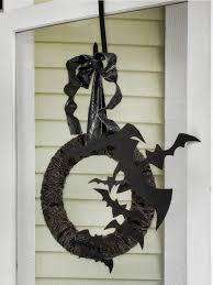 outdoor halloween decoration flying bat wreath easy crafts and hanging on front door garden design ideas accessoriesdelectable cool bedroom ideas